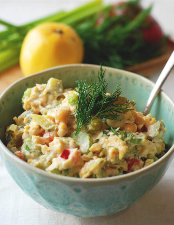 Smashed Chickpea Salad - Kolya Naturals