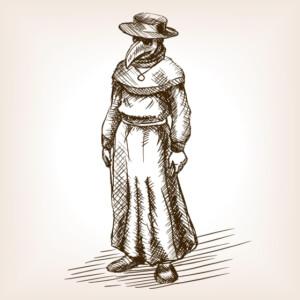 plague-doctor-hand-drawn-sketch-vector