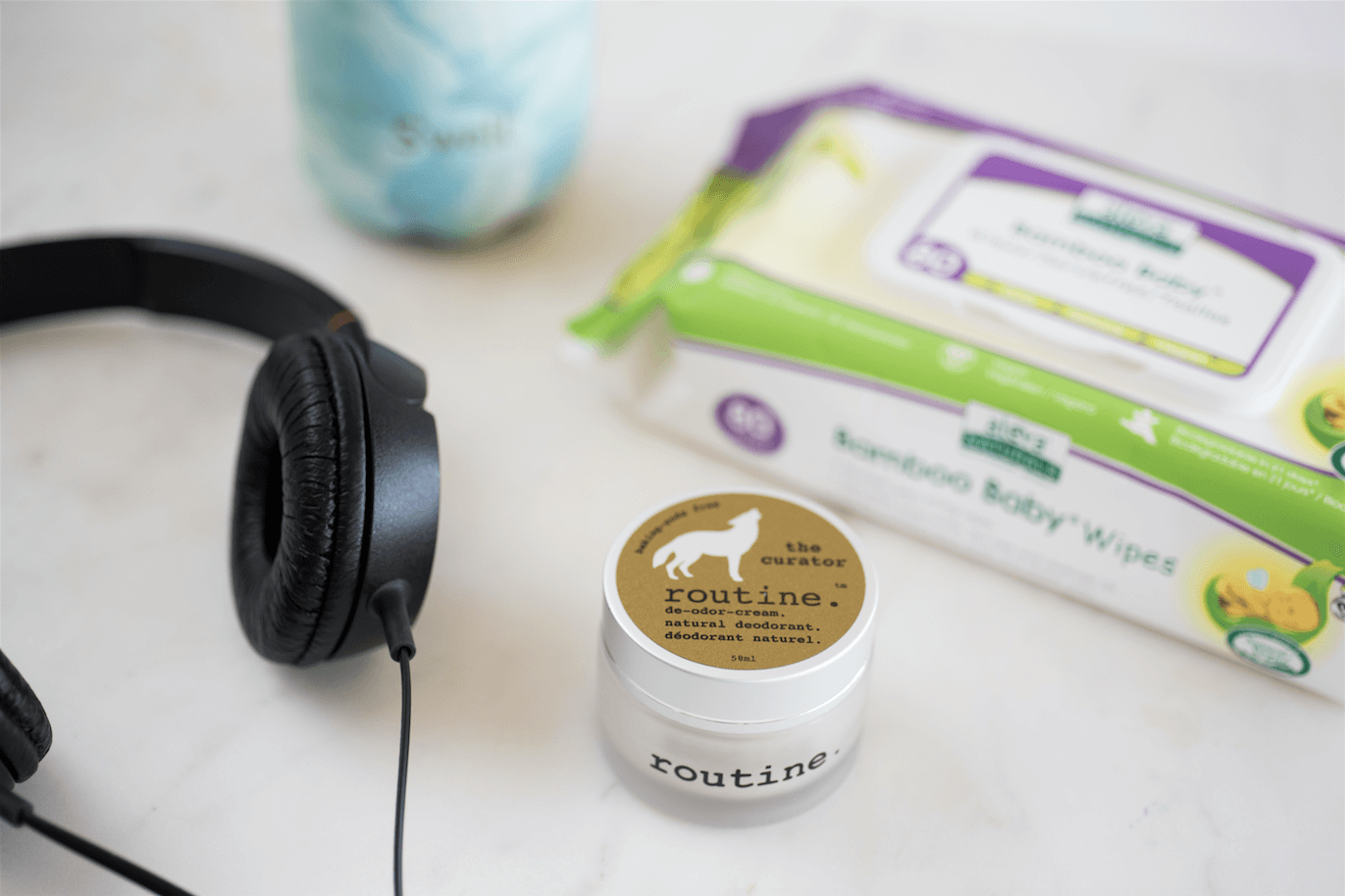 Routine Deodorant, S'well, Aleva Baby Wipes
