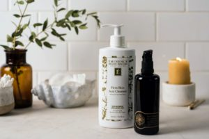 Eminence Organics Firm Skin Acai Cleanser and May Lindstrom Pendulum Potion