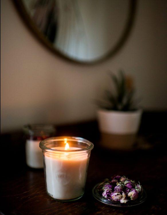 Floral Candle | Kolya Naturals, Canada
