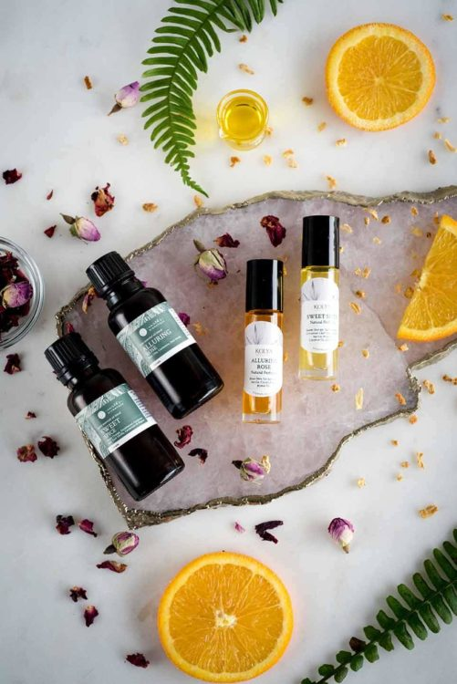 DIY Natural Perfumes - Sweet Spice or Alluring Rose | Kolya Naturals, Canada
